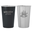Dubliner Stainless Steel Pint Glass Cup - 16 oz. brushed finish stainless steel pint cup glass tumbler.