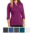 OGIO Ladies' Gauge Polo - Ladies polo made of polyester/spandex with a seven-button placket and rounded button-down collar with collar stand.