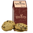 Treat Gable Box with Cookies or Brownies - Gable box with your choice of arge fresh baked cookies or fudge brownies. Great food gift idea for the holiday or Christmas.