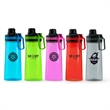 27oz Tritan Water Bottle - 27 ounce Tritan water bottle with twist-off lid and carabiner clip.