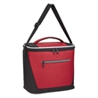 Vallejo Kooler Bag - Cooler bag made of polyester and jacquard with PEVA lining that has a double zippered main compartment