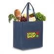 """Reusable Pearl Finish Grocery Bag 12""""w x 13""""h x 8""""g - 75 GSM non-woven polypropylene tote bag with laminated pearl finish"""