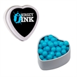 White Heart Tin with Mint, Candy, Chocolate, or Gum