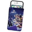 Dye Sublimated Microfiber Phone Wallet Pouch or Sleeve - Pouch made of microfiber with dye sublimated graphic that can hold eyeglasses, sunglasses, phones and more