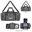 Deluxe Sneaker Duffel Bag - Duffel bag made of polycanvas with side handles, shoulder strap, multiple pockets and two shoe compartments