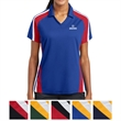 Sport-Tek Ladies' Tricolor Micropique Sport-WickPolo - Ladies' tricolor micropique polo with mesh insets at the shoulders, sleeves, and lower sides.