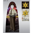 """60""""x26.5"""" Cust. Adult Size Female Trooper Officer Photo Prop"""