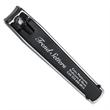 "Black Ad Clipper - 3-7/32"" x 11/16"" x 9/16"" black nail clipper with large imprint area"
