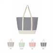Large Water Resistant Canvas Nautical Stripe Beach Tote Bag - Large Water Resistant Canvas Nautical Beach Tote Bags Stripe