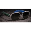 U-Boat Green Crocodile Sunglasses - Aviator-shaped sunglasses with titanium frame. 100% UVA/UVB protection.