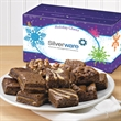 Custom Holiday Cheer Morsel Dozen - Spread Holiday Cheer with a brownie gift and your logo on the gift band.