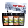 Gourmet Spice and Rub Bottle Shaker Set - Spice & rub bottle shaker set with salt, pepper, Cajun and barbecue seasoning.  Great food gift box for the holidays or Christmas.