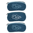 L.E.N.S. Large Eyewear Neoprene Storage Denim - Neoprene Storage bag for large eyewear w/zipper closure & colored stitching & bias trim .