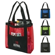 "Zuma Sheer Day Tote - 4.25"" x 13"" x 13"" sheer nylon day tote; includes 1 3/8"" x 21"" straps with folded handles and gusetted bottom."