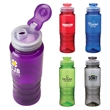 """Santana 26 oz. PET Bottle - 3.06"""" x 9.31"""" x 3.06"""" PET bottle; 26 oz. capacity with a textured grip and flip-up spout cover lid."""