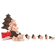 Peppermint Bark Individually Wrapped Shapes - Peppermint bark individually wrapped shapes, .5 ounce.