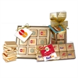 Chocolate Foiled Squares Gift Boxes - Fifteen piece foiled chocolate squares in a tower.