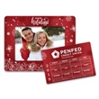 """Holiday Calendar Punch Out Picture Frame - 5.25"""" x 6.75"""" holiday themed calendar magnet with punch out picture frame."""
