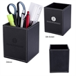 """Executive Pen & Pencil Cup - Polyurethane leatherette pen and pencil cup that measures 3 1/4"""" x 4 1/8"""" x 3 1/4"""" and has a velvet interior"""