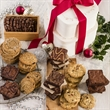 Classic Baker's Best Holiday Gift Tower - A whimsical keepsake gift box filled with cookies and brownies.