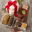 Christmas Gourmet Bakery Tower - Gourmet bakery tower containing baked goods..