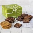 Brownie & Cookie Combo - Stylish cardboard gift box packed with individually wrapped cookies and brownies.