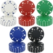 Card Suits Clay Poker Chips, 11.5 Gram - Casino-style, heavyweight 11.5 gram imprinted clay card suits poker chips.