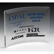 """Freestanding Curved Award - 4"""" x 6"""""""