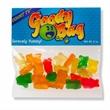2 oz Gummy Bears / Header Bag - Customizable clear header bag filled with gummy bears, 2 oz.