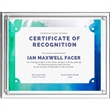 """Magnetic Certificate Holder - Clear on Clear - 10 1/4"""""""