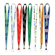 "Full Color Imprint Smooth Dye Sublimation Lanyard - 3/4"" ... - Lanyard with full color dye sublimation imprint, metal split ring and crimp that measures 3/4"" x 36"""