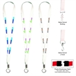 White Lanyard with Full Color Imprint - White lanyard that features a one-sided full color imprint