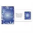 Full Color Snowflakes Logo Greeting Card