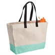 Brookson Bay Bottom Pattern Beach Tote - Cotton canvas beach tote bag with a water repellent finish.