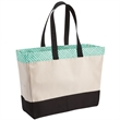 Brookson Bay Top Pattern Beach Tote Bag - Cotton canvas beach tote bag with a water repellent finish.