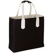 Brookson Bay Solid Body Beach Tote Bag - Reversible cotton canvas beach tote bag with water repellent finish.