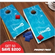 Tabletop Cornhole set - Tabletop cornhole set with 2 boards and 2 sets of 4 bean bags.