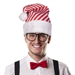 Candy Cane Stripe Santa Hat - Santa hat with red and white candy cane stripe design.