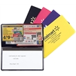 Coupon Holder With Shopping List Pad - A coupon holder / checkbook cover with a note pad in modern fashionable colors.