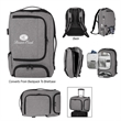 Heathered RFID Computer Backpack And Briefcase - Heathered computer backpack/briefcase made of 300 denier polyester with a ton of features.
