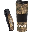 The Camo Collection Tumbler and Knife - Camouflage stainless steel tumbler and utility knife gift set.