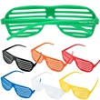Slotted sunglasses - Slotted sunglasses in assorted colors.