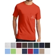 Port & Company Essential Pocket Tee - 6.1 oz. t-shirt with left chest pocket, made from 100% soft-spun cotton (some colors made from a cotton/polyester blend)