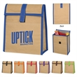 Woven Paper Lunch Bag - 95 GSM eco-woven paper lunch bag with foil laminated PE foam insulation.