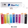 P2200 Bar Power Bank - Power Bank with charging cable and custom tuck box.