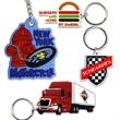 Key Tag Custom Shape Soft PVC Keychain - Custom Soft PVC key tag Keychains with molded imprint. Custom shape in colorful & pliable non-toxic PVC.