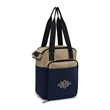 Southport Insulated Picnic Kit - Dual-zippered picnic kit with insulated compartment and utensils