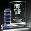 Resolute Award - Blue/optical crystal award.