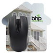 "House Shaped Dye Sublimated Computer Mouse Pad - 5"" W x 5"" H computer mouse pad shaped like a house with printed four color dye sublimation process imprint"
