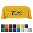 Flat Poly/Cotton 3-sided Table Cover - fits 8' table - Poly/cotton 3-sided table cover